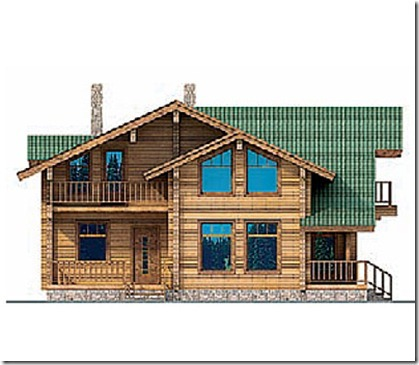 проект коттеджа фасад 1