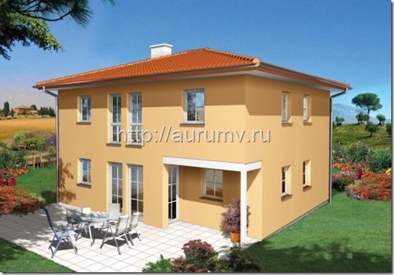 проект коттеджа средиземноморье 145 фасад