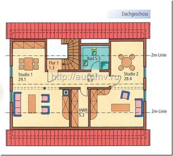 дом семейный поэтажный план вариант2 этаж2