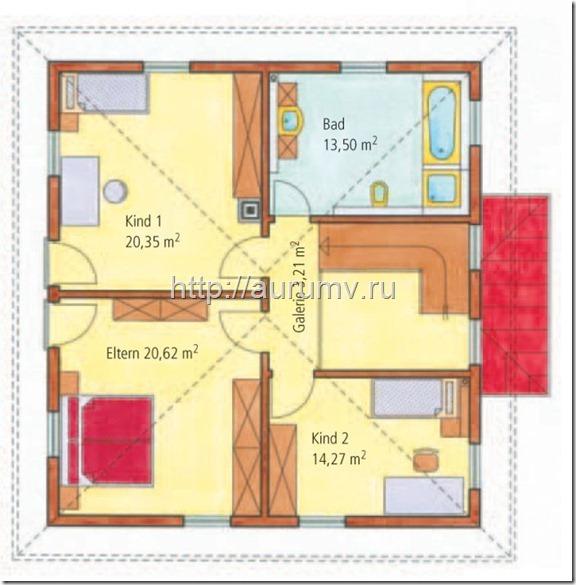 проект дома средиземноморье поэтажный план 2 этаж