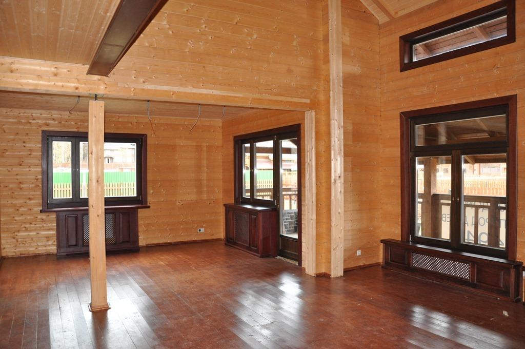 Дом из клееного бруса изнутри