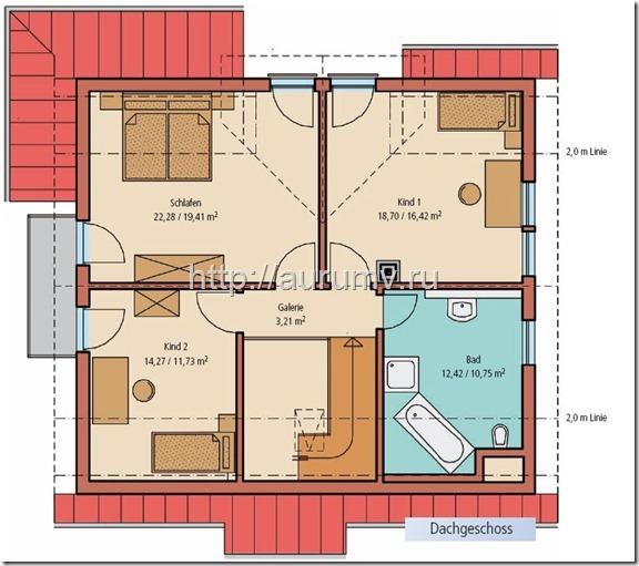 Проект дома Кантри 2 этад