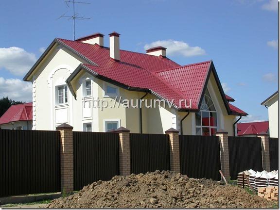 Кирпичный коттедж проект №1 Фасад 3