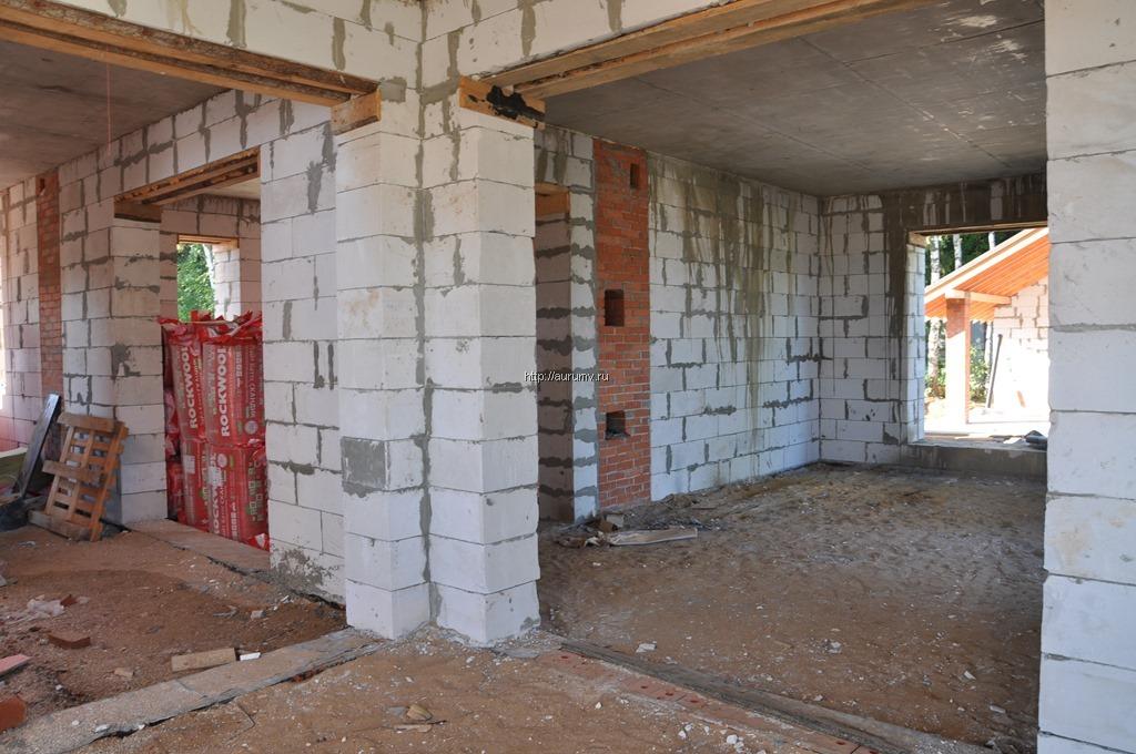 Строительство дома из газоблоков фото