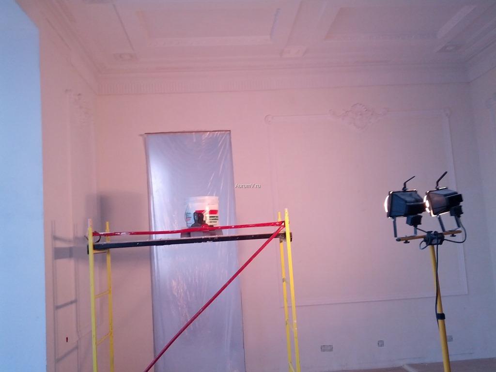 """Внутренняя отделка: шлифовка стен """"под прожектор"""" фото"""