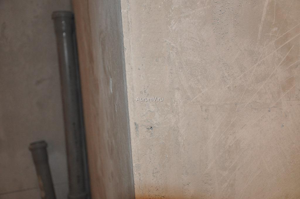 Черновая отделка. Фото оштукатуреной стены