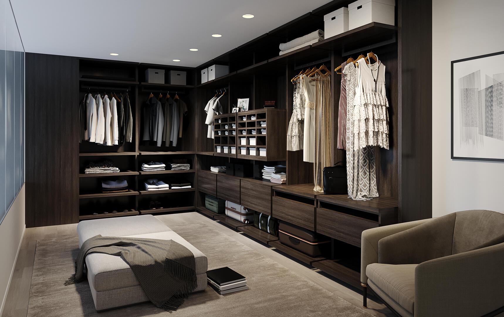Фото элитного ремонта в гардеробной