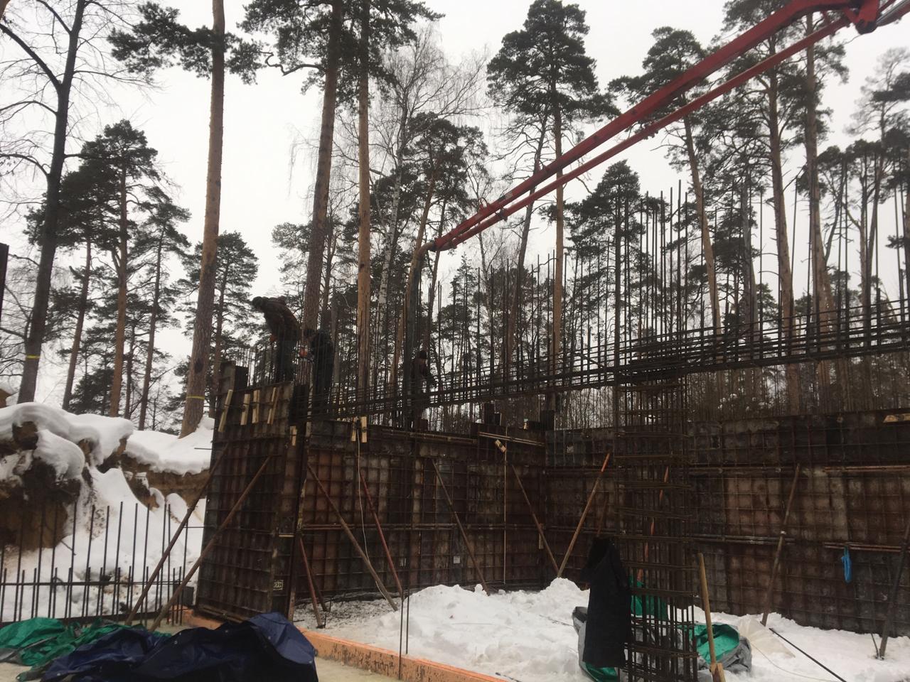 Домов строительство зимой