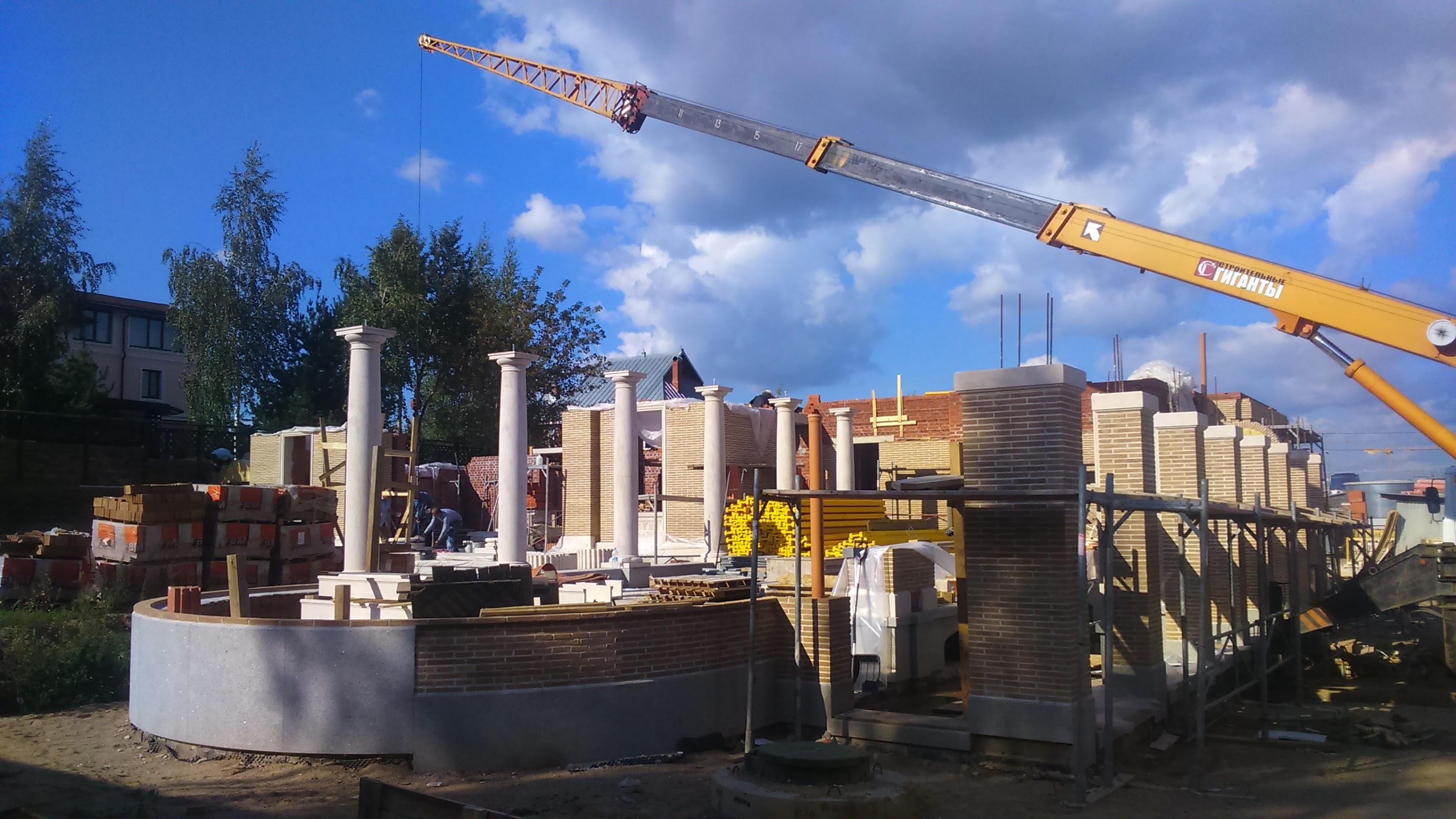 Строительство кирпичного особняка