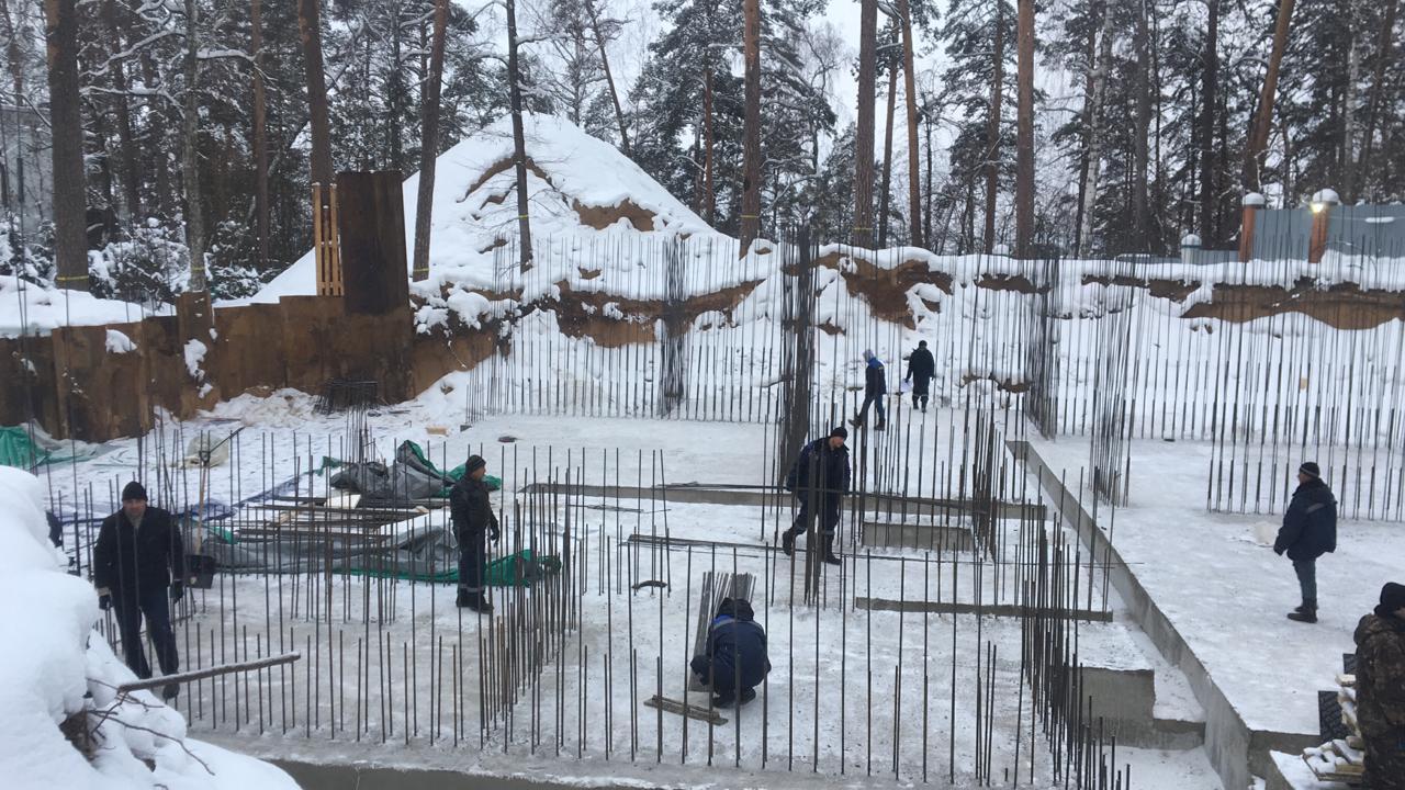 Строительство коттеджей зимой
