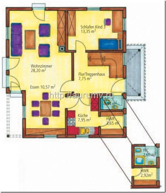 проект дома средиземноморье поэтажный план 1 этаж