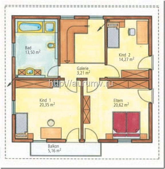 Энергоэффективный дом 150 поэтажный план 2