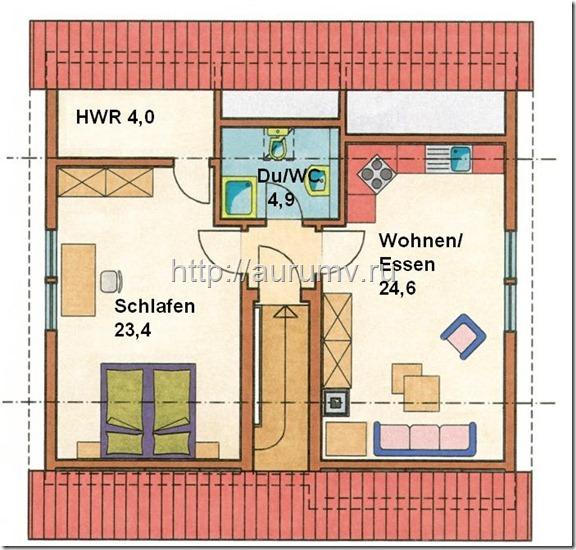 проект Комби вариант 2 поэтажный план 2 этаж