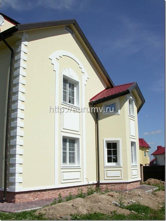 Кирпичный коттедж проект №1 Фасад 4