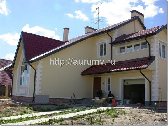 кирпичный коттедж проект №1 фасад1