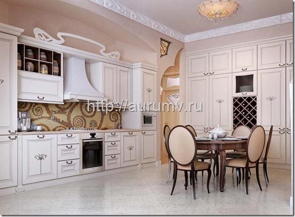 Ремонт кухни в старом доме в Москве