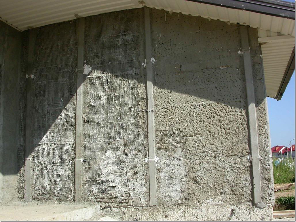 Штукатурка фасада домов фото