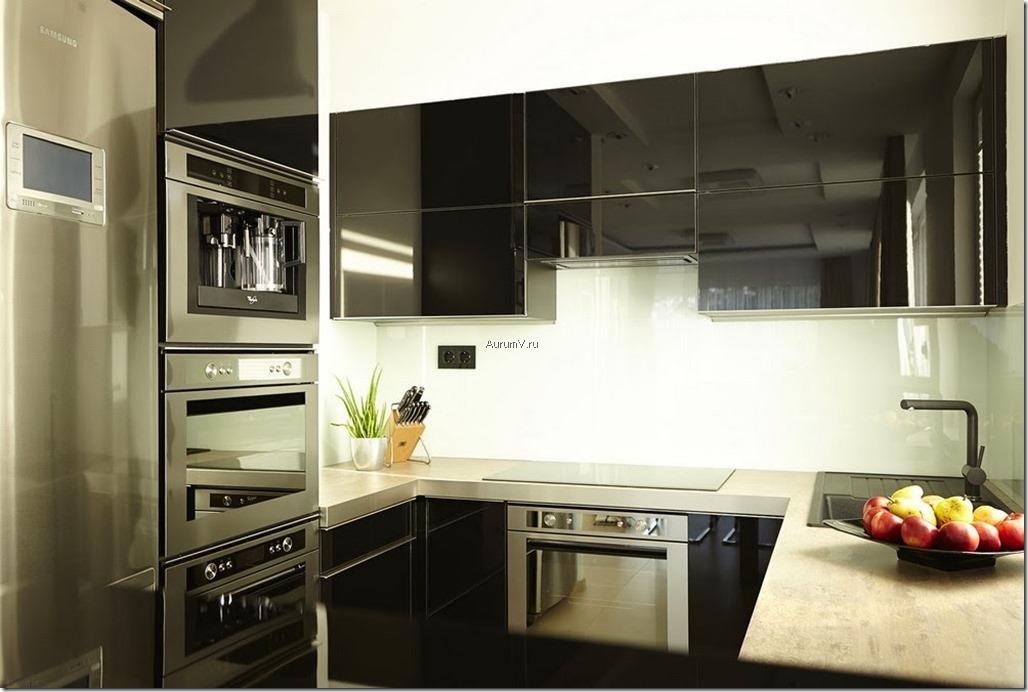 Дизайнерский ремонт квартир - кухня хай тек