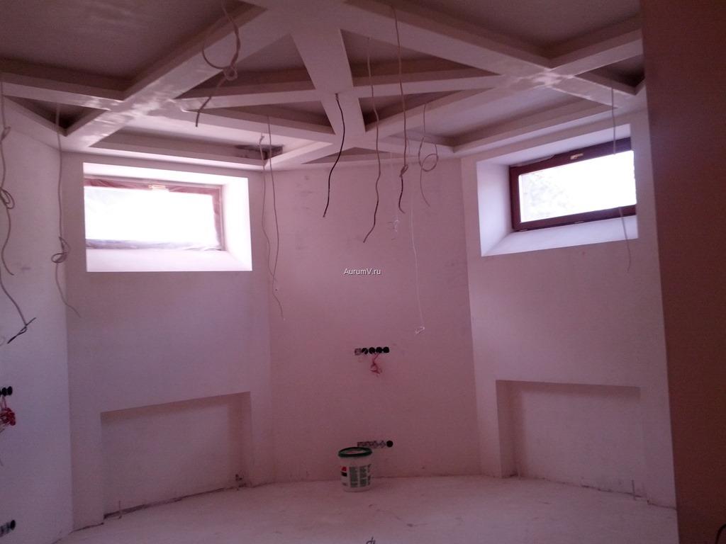 Фото: отделка подвала (цоколя) элитного дома